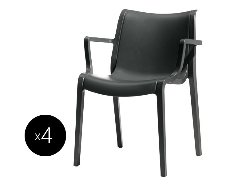 Technopolymer chair with armrests BIS EXTRAORDINARIA - SCAB DESIGN