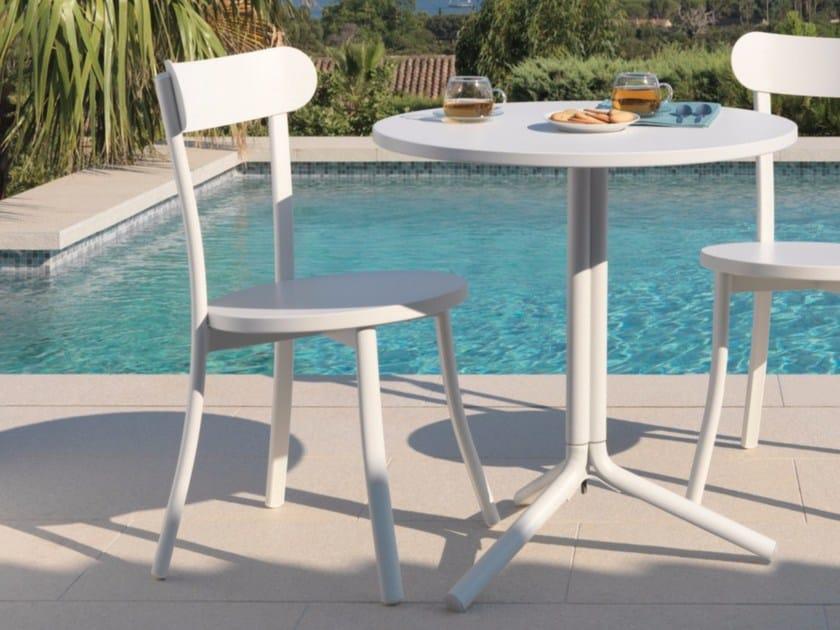 Stackable aluminium garden chair BISTRÒ   Garden chair - Talenti