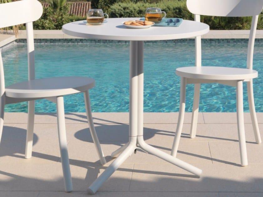 Round aluminium garden table BISTRÒ | Round table - Talenti