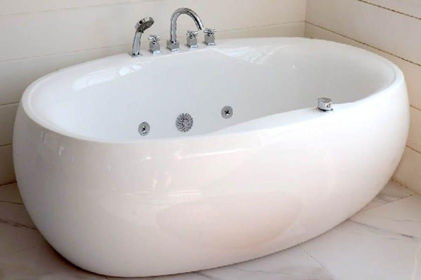 Vasca Da Bagno In Acrilico 180x81x60 Design Freestanding Ovale : Vasca da bagno idromassaggio ovale bl vasca da bagno vasca