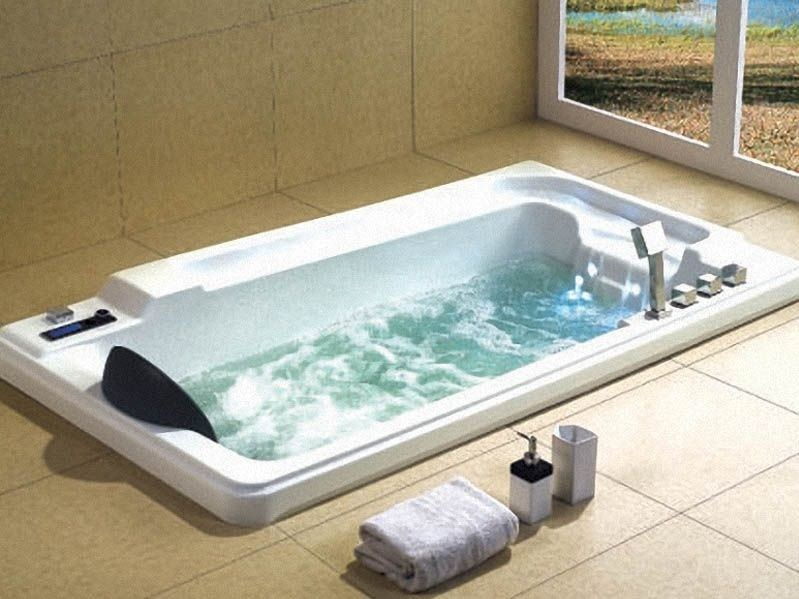 Whirlpool rectangular built-in bathtub BL-517 | Whirlpool bathtub - Beauty Luxury