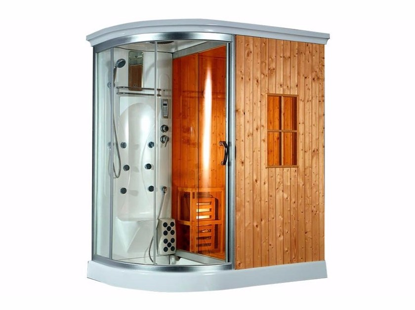Box doccia con idromassaggio e sauna finlandese bl 612 box doccia con idromassaggio beauty - Cabine doccia multifunzione prezzi ...
