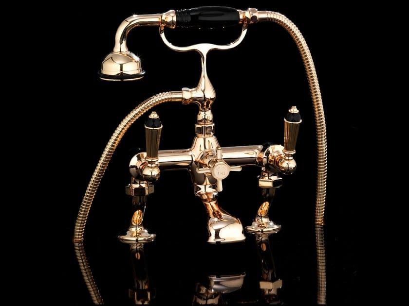 2 hole bathtub tap with hand shower BLACK DIAMOND | Bathtub tap by Devon&Devon