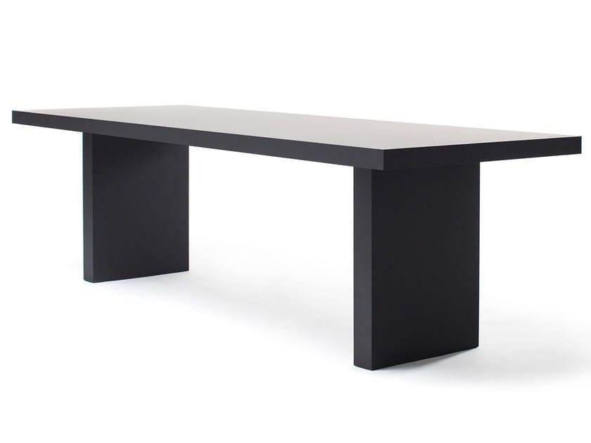 Rectangular dining table BLACK MAMBA - jot.jot