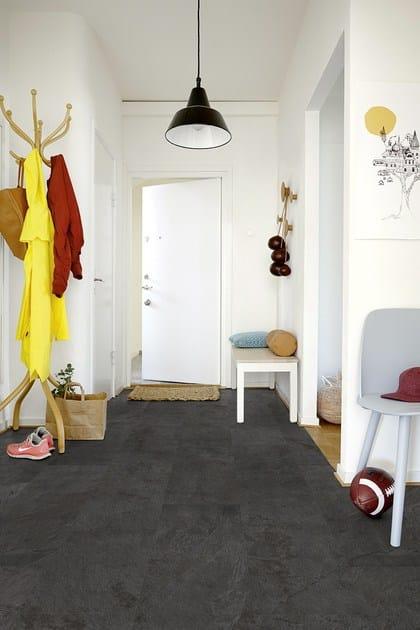 Pavimento in vinile effetto pietra ardesia scivaro nera pergo - Pavimenti ardesia per interni ...