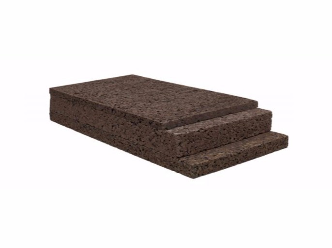 Cork thermal insulation panel BLACKCORK - Sace Components