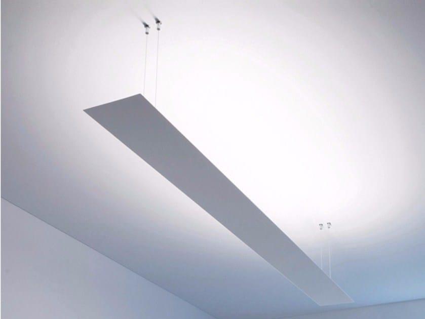 Fluorescent metal pendant lamp BLADE by DAVIDE GROPPI