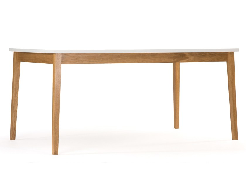 Lacquered rectangular wooden dining table BLANCO | Dining table - Woodman