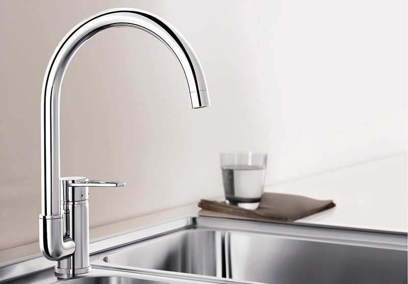 Chrome-plated countertop kitchen mixer tap BLANCO JETA - Blanco