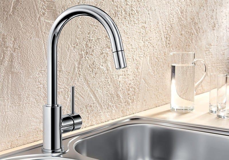 Miscelatore da cucina a ponte con doccetta con doccetta estraibile BLANCO MIDA-S - Blanco