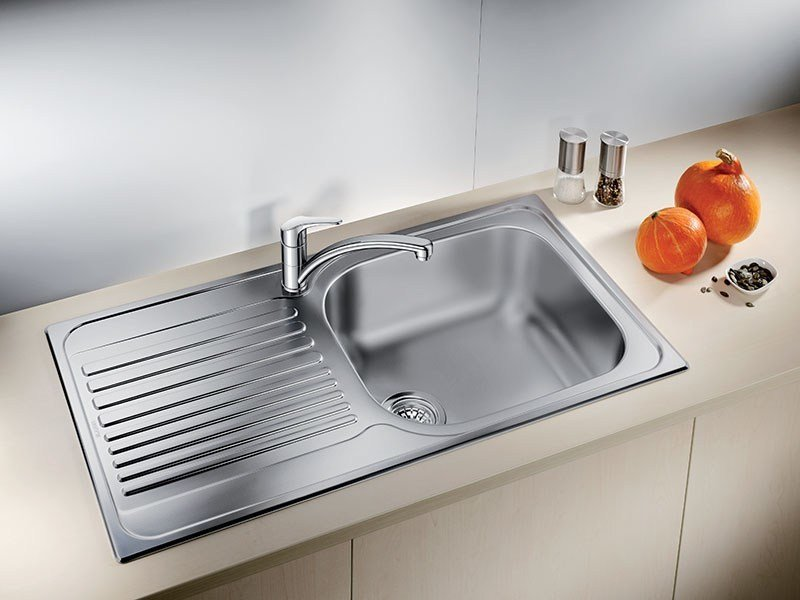 Single built-in stainless steel sink with drainer BLANCO TIPO XL 6 S - Blanco