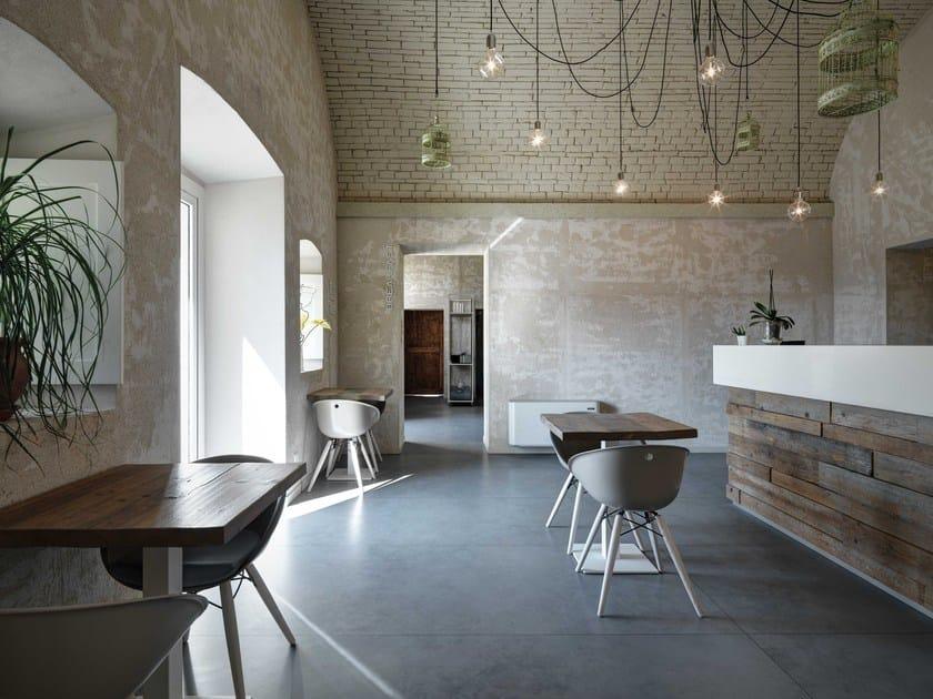 Revestimiento de pared suelo de porcelana efecto concreto - Suelos de porcelana ...