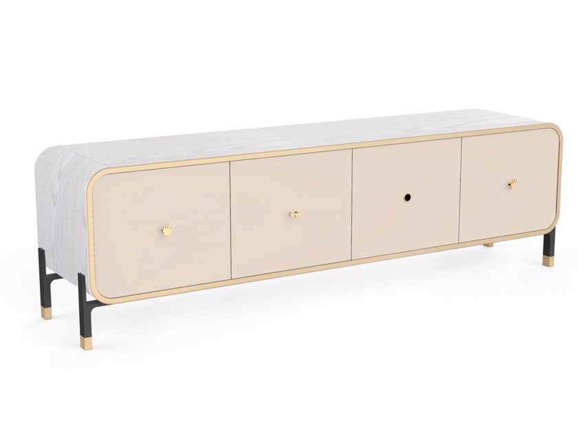 Wooden sideboard with doors BLINK LARGE CABINET - STELLAR WORKS