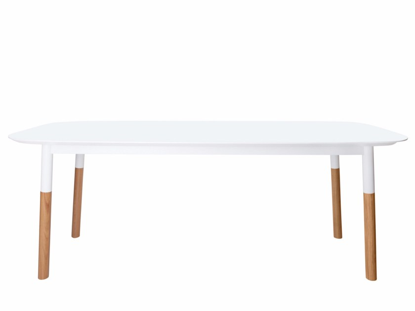 Lacquered rectangular wooden table BLIXEN - AZEA