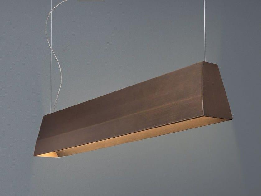 LED direct-indirect light aluminium pendant lamp BLONDE by Quadrifoglio