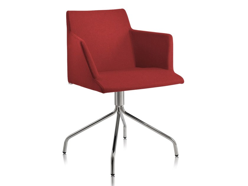 Trestle-based chair with armrests BLOOM 1-P by CHAIRS & MORE