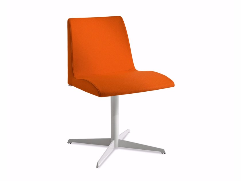 Chair with 4-spoke base with fire retardant padding BLOOM 3 - CHAIRS & MORE