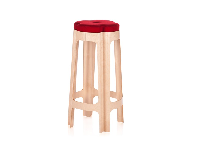 Upholstered barstool BLOOM BAR UPH - RIGA CHAIR