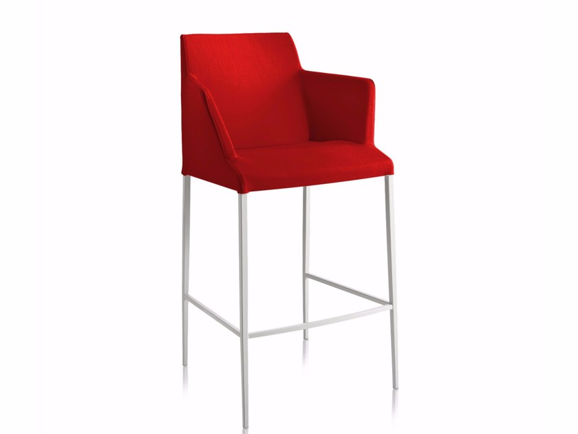 Contemporary style counter stool with armrests with fire retardant padding BLOOM M-SG-P - CHAIRS & MORE