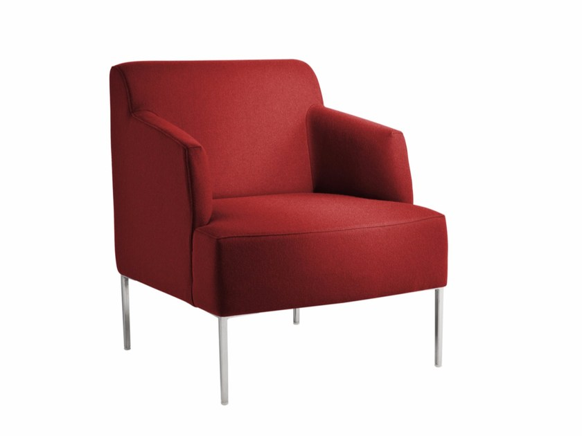 Upholstered armchair with armrests BLOOM P - CHAIRS & MORE