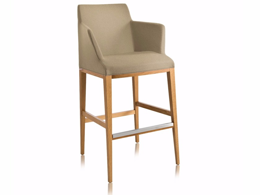 Counter stool with armrests with footrest BLOOM SG-P | Counter stool - CHAIRS & MORE