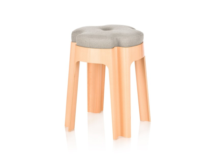Upholstered stool BLOOM UPH - RIGA CHAIR
