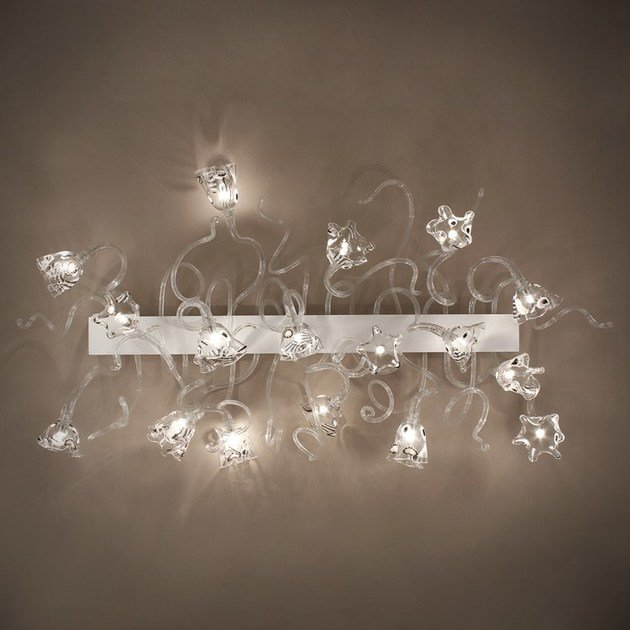 Contemporary style LED handmade glass wall lamp BLOSSOM | Glass wall lamp - MULTIFORME