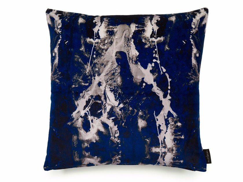 Square cotton cushion with removable cover BLOTTO | Square cushion by 17 patterns