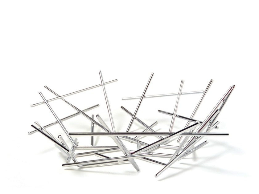Stainless steel basket BLOW UP | Basket - ALESSI