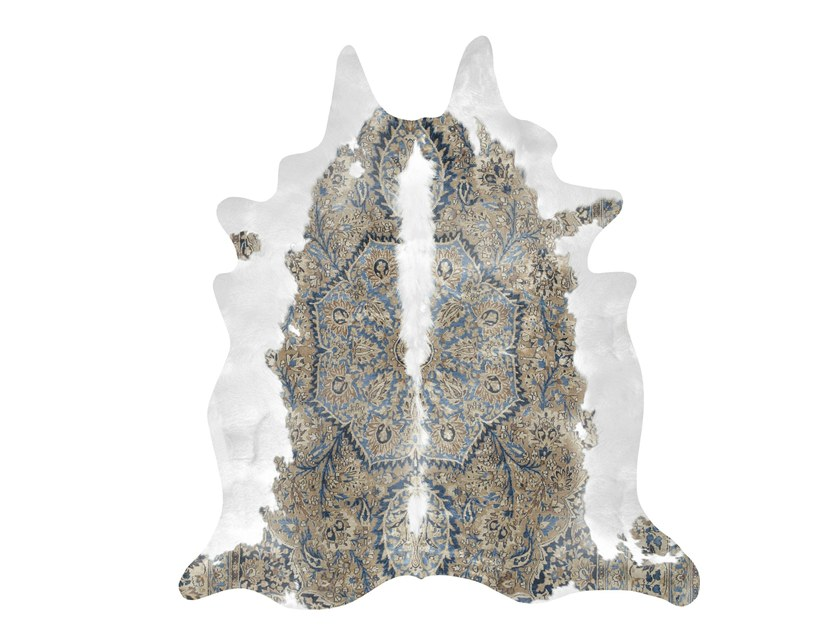 Patterned rug BLUE & BROWN PERSIAN COWHIDE - Mineheart