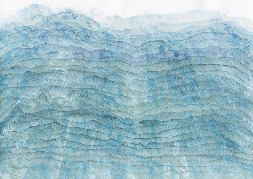 Carta da parati a motivi impermeabile lavabile blue sand for Carta parati impermeabile