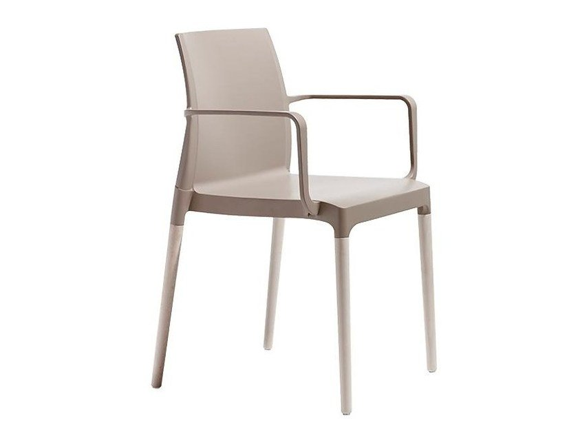 Plastic chair with armrests BLUNTT | Chair with armrests - SMV Sitz- und Objektmöbel