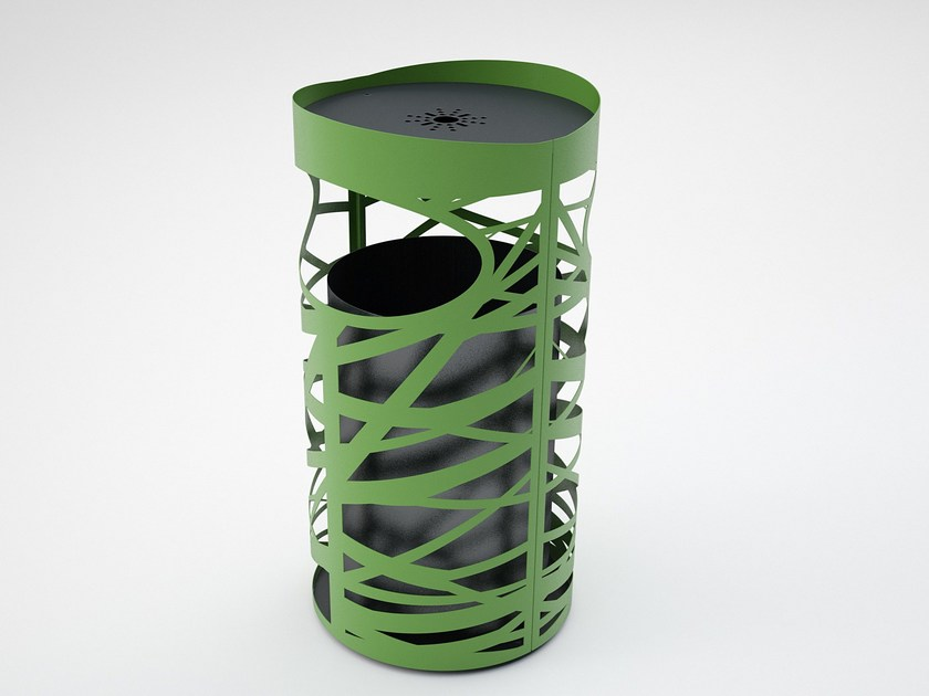 Steel waste bin with ashtray BOBBY - CITYSì