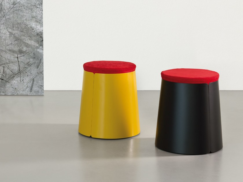 Pouf in metallo BOBINO POUF by meme design