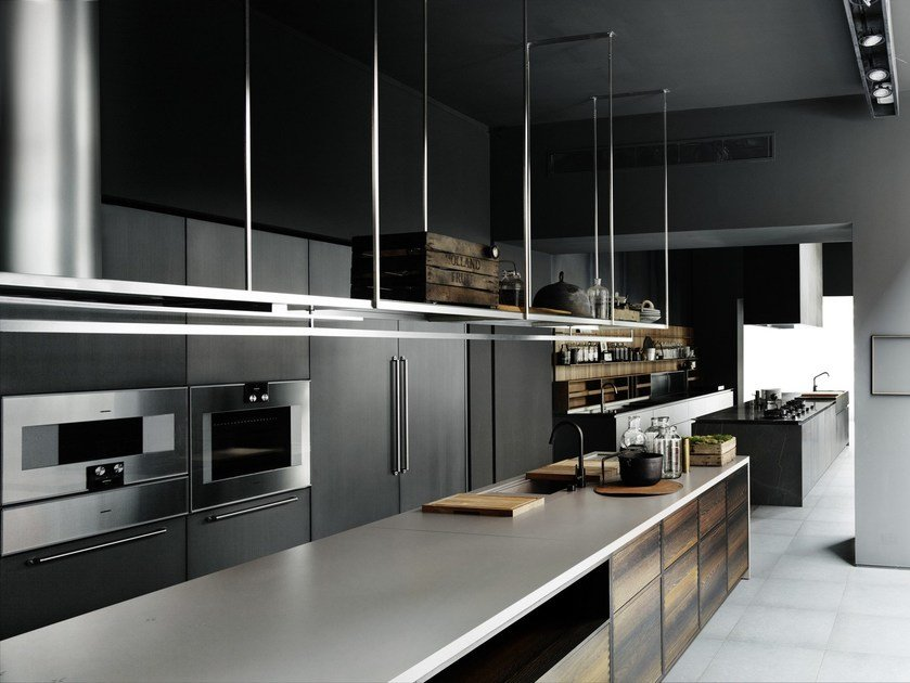 Fitted kitchen with island BOFFI_CODE KITCHEN - Boffi