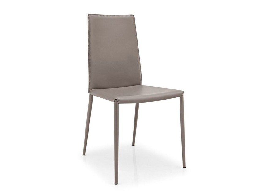 Tanned leather chair BOHEME | Chair - Calligaris