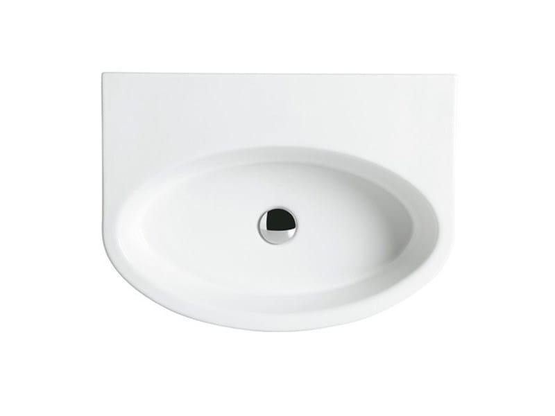 Oval wall-mounted ceramic washbasin BOING 60 | Wall-mounted washbasin - GSG Ceramic Design