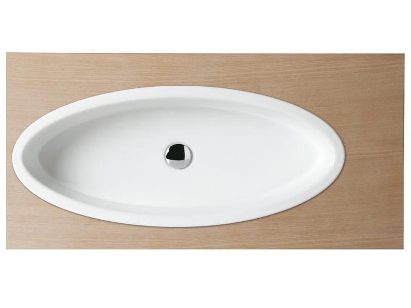Countertop oval washbasin BOING 80 | Washbasin - GSG Ceramic Design