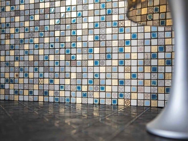 Marble mosaic BOITE - CONTEMPORARY BOX - FIJI 15 by Lithos Mosaico Italia