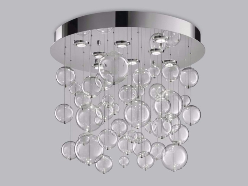 Blown glass ceiling lamp BOLERO Ø 80 - Metal Lux di Baccega R. & C.