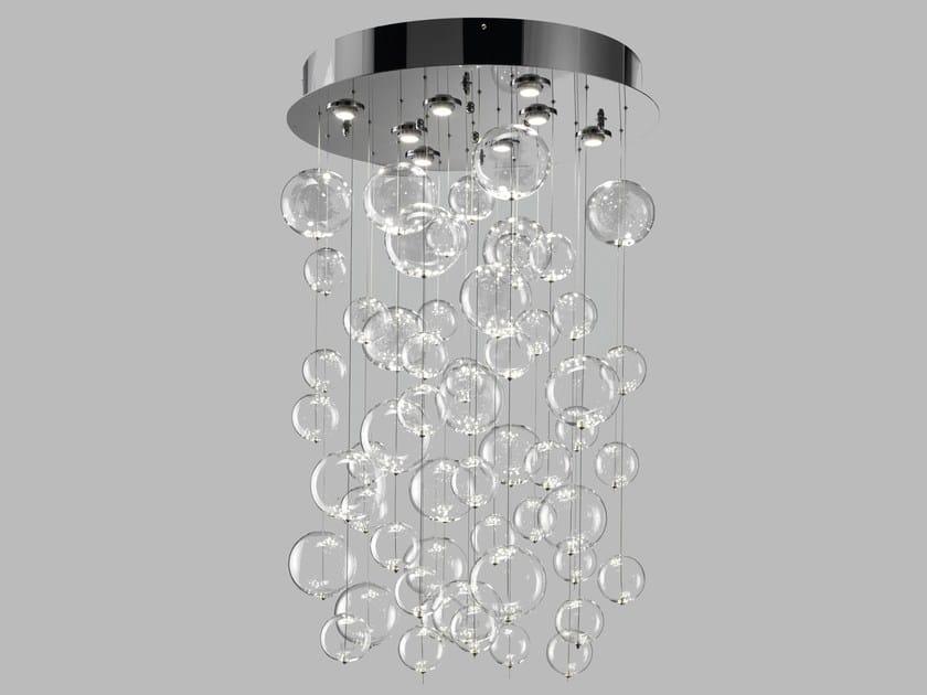 Blown glass ceiling lamp BOLERO | Ceiling lamp - Metal Lux di Baccega R. & C.