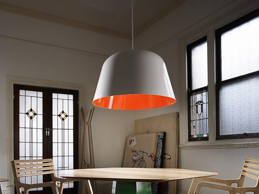 Aluminium pendant lamp BOLET - Derlot Editions