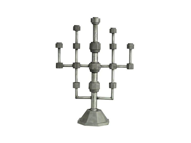 Aluminium candlestick BOLT LIGHT - Pols Potten
