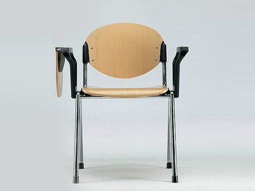 Wooden training chair with armrests with writing tablet BONN | Wooden training chair - D.M.