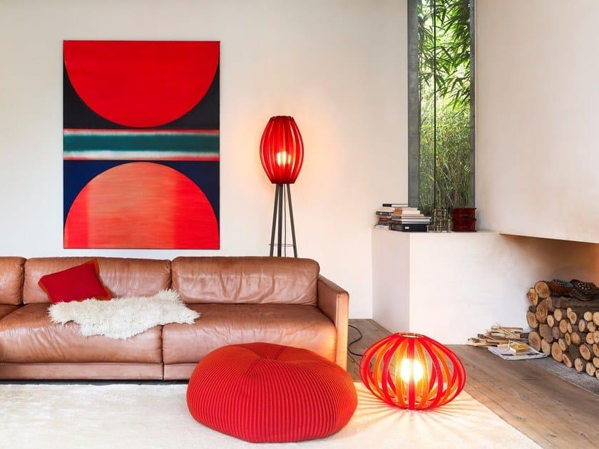 Merino wool floor lamp BONNET BRIGHT   Floor lamp by Casalis
