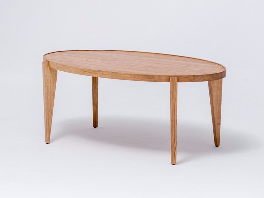 Oval solid wood coffee table BONTRI ELLIPSE - ST FURNITURE
