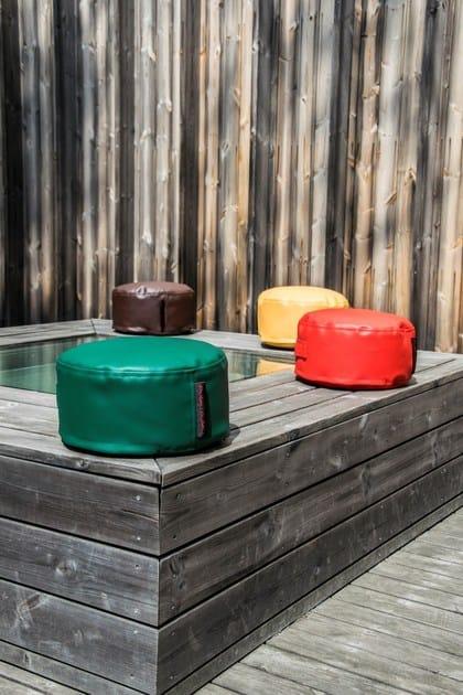 Imitation leather bean bag with removable lining BOO OUTSIDE - Pusku pusku