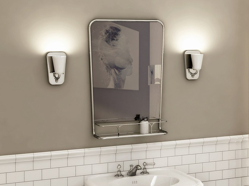 Wall-mounted mirror with cabinet BOOGIE - Devon&Devon