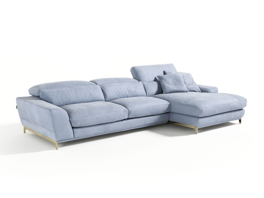 Sofa with chaise longue boomer by egoitaliano - Chaise longue modernos ...