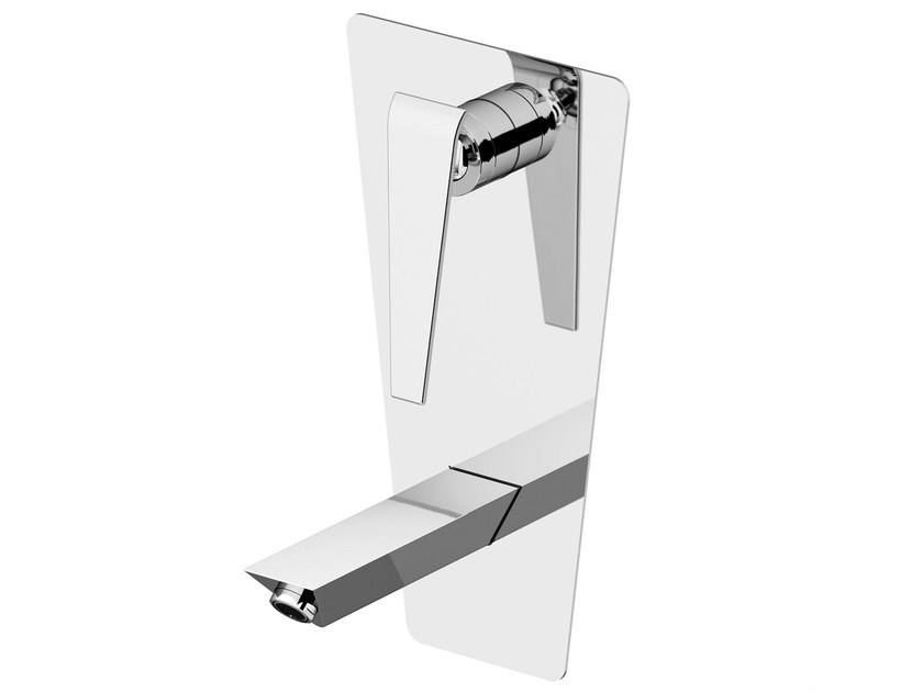 Wall-mounted washbasin tap with plate BOOMERANG | Washbasin tap with plate - Gattoni Rubinetteria